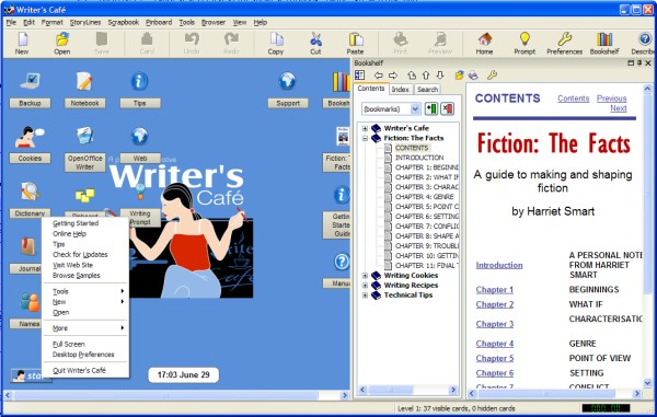 Writer's Cafe Screenshot